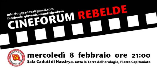 """Mercoledì 8 febbraio, alle ore 21:00, in Sala Caduti di Nassirya verrà proiettato """"Donne e lavoro"""", un documentario che riguarda il tema delle discriminazioni di genere nel mondo del lavoro. […]"""