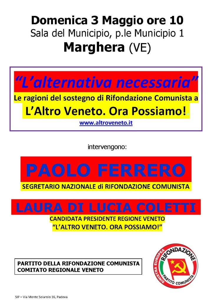 L'Alternativa necessaria - Marghera 3mag15