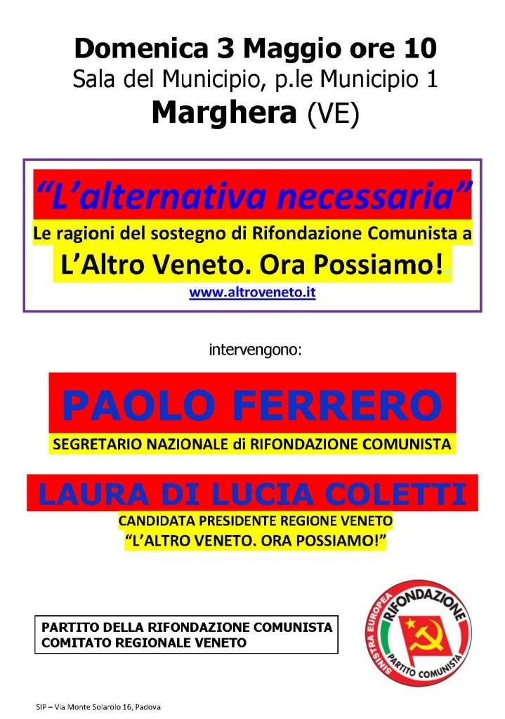 L'Alternativa necessaria - Marghera 3mag15