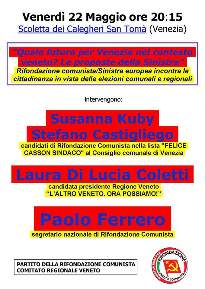 iniziativa Venezia Ferrero 22mag15