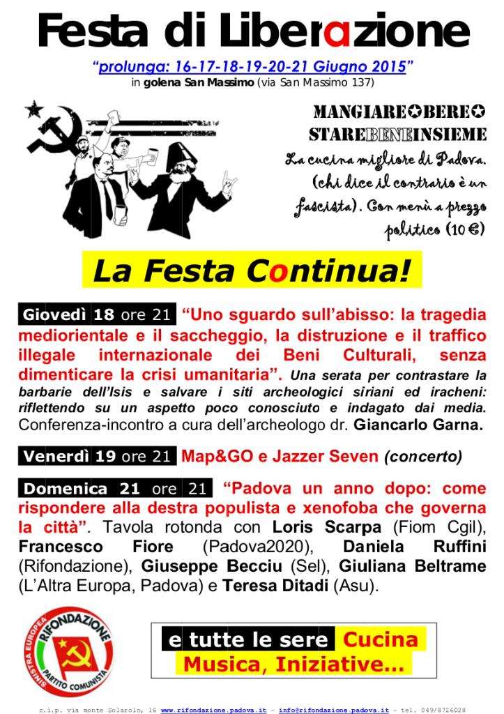 Festa di Liberazione 2015 - prolunga