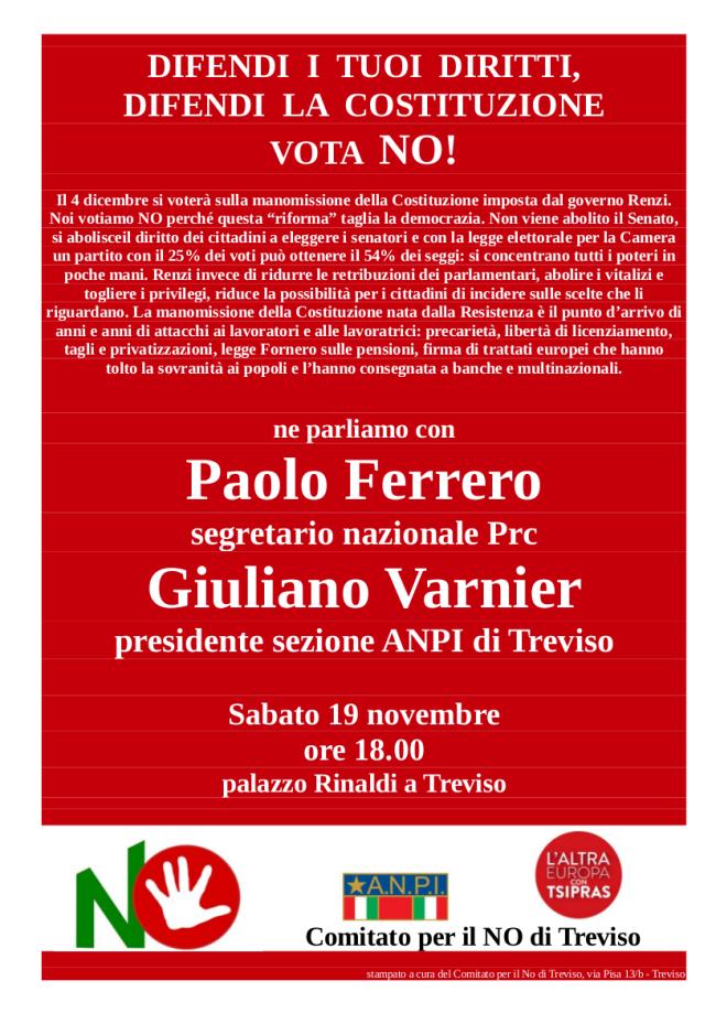 Locandina 19 novembre Treviso