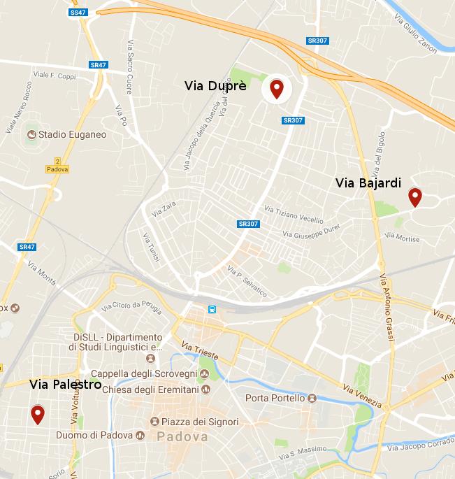 Mappa GAP Padova