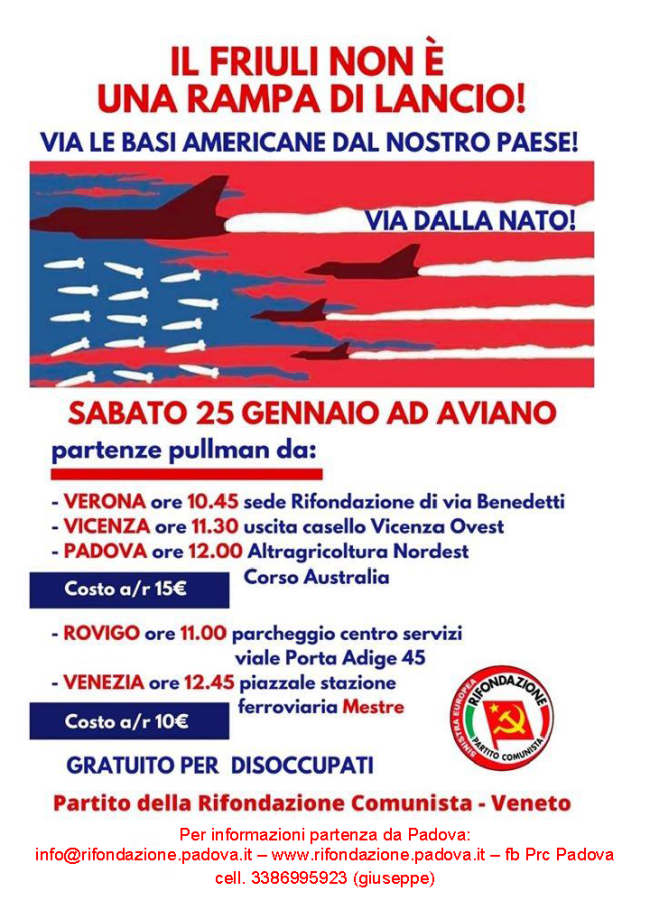 25 Gennaio ad Aviano!