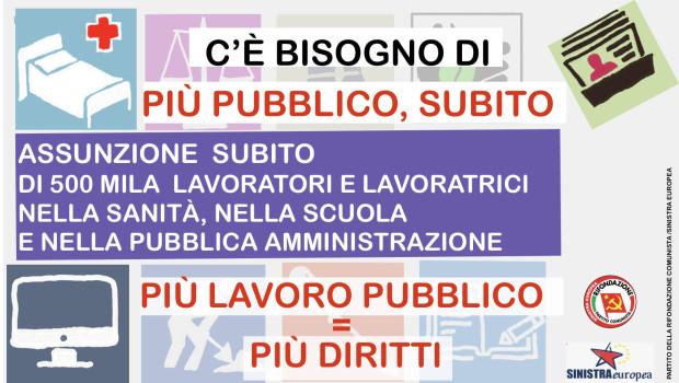 Il ministro Brunetta annuncia in pompa magna 150mila assunzioni l'anno nella Pubblica Amministrazione. Non ci facciamo depistare da questo marketing governativo. Le 150.000 assunzioni di Brunetta coprono a malapena il […]