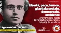 In occasione del 100° anniversario della fondazione del Partito Comunista d'Italia, avvenuta a Livorno nel gennaio del 1921 al termine del XVII Congresso del Partito socialista, e in occasione del […]