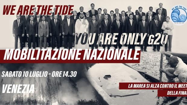 Mobilitazione nazionale sabato 10 luglioh. 14.30,Riva delle Zattere, Venezia Dal 7 all'11 luglio i ministri della finanza dei 20 paesi più industrializzati si incontreranno all'Arsenale di Venezia per il meeting […]