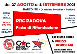Festa di Rifondazione Padova 2021